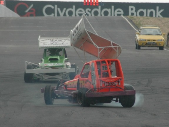 Not the best start - spinning out on the first lap. (Photo: Chris Clark)