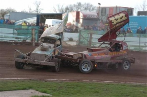 James Neachall in action at Sundays Belle Vue meeting.