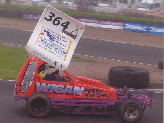 My first time ever driving an F1 stock car. (Photo: Martin Fitzgerald)