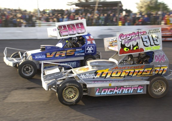 Frankie Wainman jnr (515) and Nick Read (209) at Northampton.