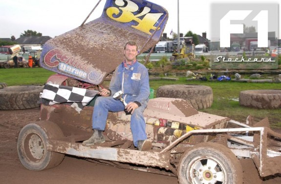 Mel Brown winning with his 'new' FWJ Car at Belle Vue. Photo Colin Casserley