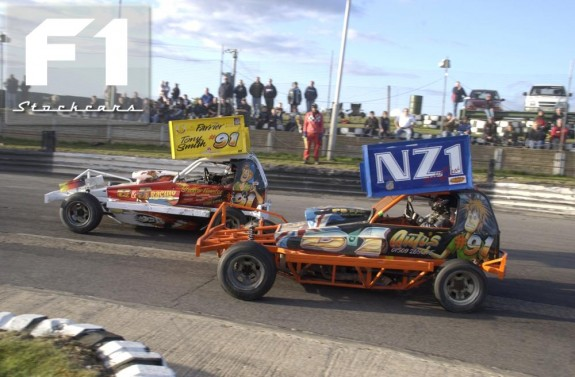The two cars of Tony Smith on track, Malcolm Ngatai NZ#1. Photo Colin Casserley.