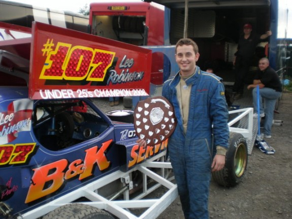 Lee Robinson 2008 Under 25's Champion.