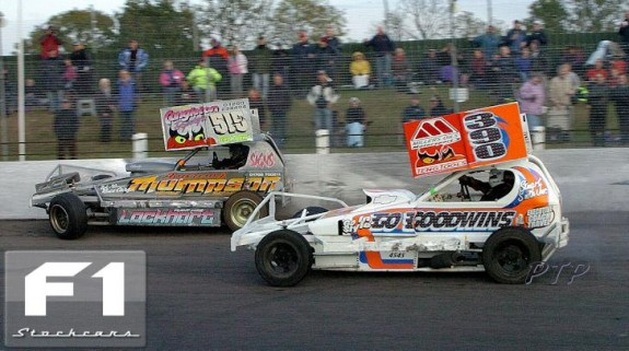 Stuart Smith Fires Frankie Wainman into the Armco. Photo Paul Tully.