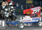 Paul Hines (#259) takes the BriSCA F1 2010 British Championship