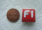 'NEW'   F1 Stockcars Silver Enamel Badge