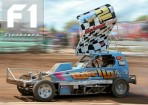 BSCDA British Champion 2011 Paul Harrison (#2) talks to F1 Stockcars.com