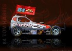 Tom Harris (84) BriSCA F1 Tar-Car Technical Illustration Poster