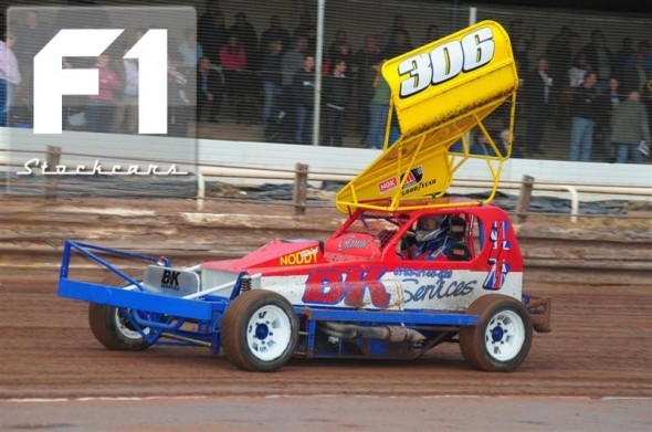 BriSCA F1 stock car driver Ian Noden 306. Photo Steve Botham