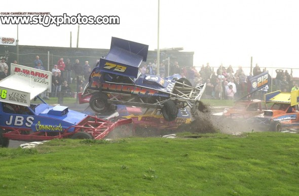 Sometimes you can see what is going to happen and be ready for it,  as was the case in this shot from Skegness
