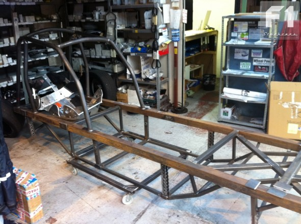 The bare chassis.