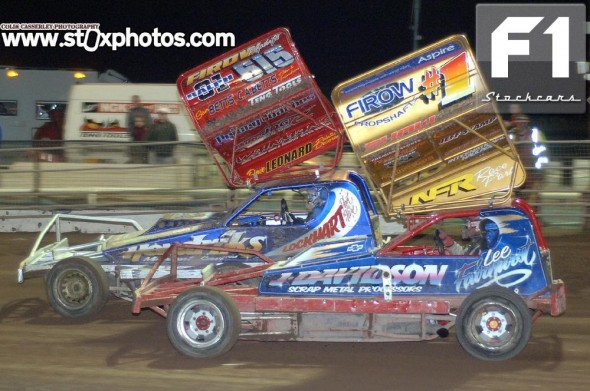 Nothing to separate Lee Fairhurst 1/217 and Frankie Wainman Jnr 515. Photo Colin Casserley