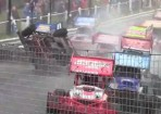BriSCA F1 Heat 1 @ Hednesford April 21st 2013 (inc Kitzon Rollover)