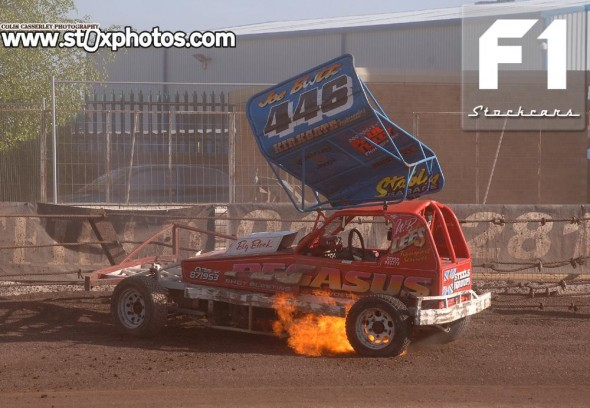 the fence claims Joe Booth 446. Photo Colin Casserley