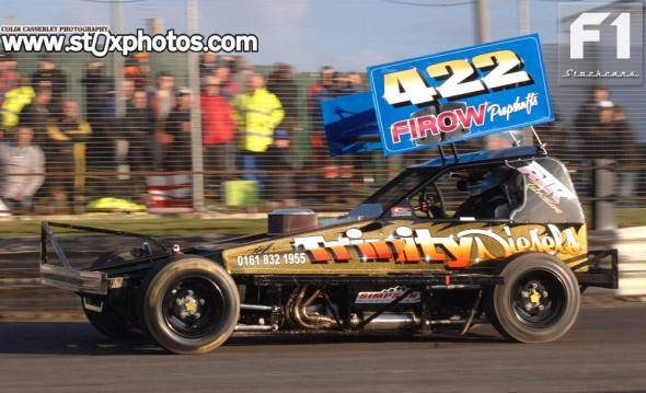 The brand new Tom Harris built car of 422 Dave Riley.