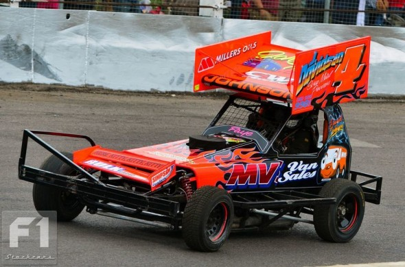 The Dan Johnson car, reworked and repainted after a big shunt at Buxton. (SS)