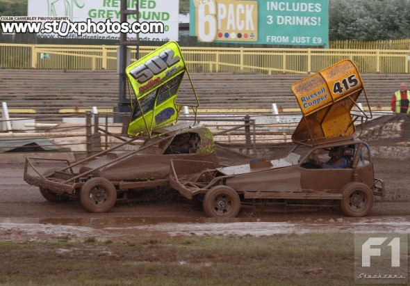 Mud bath for Ricky Wilson and Russell Cooper.