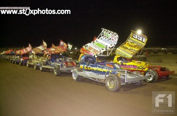 Andy Smith and Frankie Wainman on the front row of the 2007 World Championship Final.