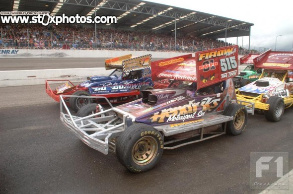 Frankie Wainman and Lee Fairhurst line up for the World Cup in front of the packed Venray grandstand.