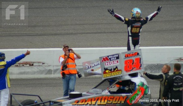 Tom celebrates victory in the 2013 Gold Cup at Venray.  (Photo: Andy Pratt)