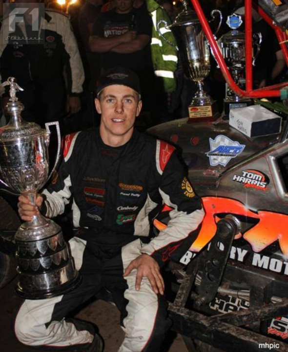 Tom in the pits at King's Lynn on World Final night. (Photo: Marvin Hall)