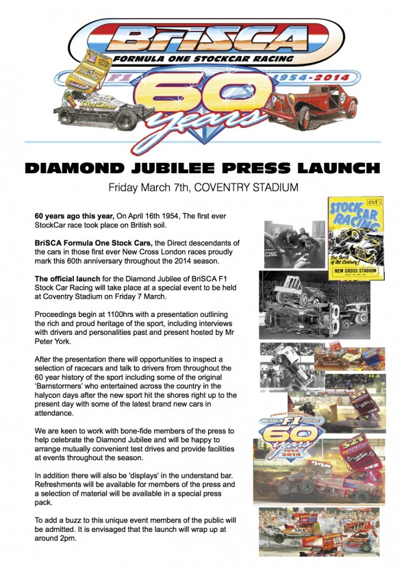 BriSCA Diamond Jubilee Press Release