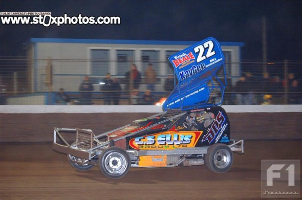 Will Yarrow in the ex-197 shale car.